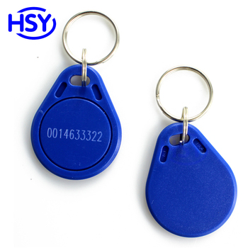 20pcs a lot Blue Color RFID Smart Keyfob Proximity EM ID Access Control Keytag 13.56Mhz MF IC Token Keychain image