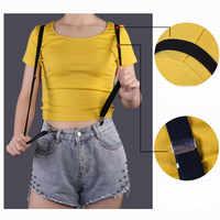 BD005-4 Size 4 clips on 1.5 cm Width Men's Suspenders Women Elastic Adjustable Adult Braces Kids Children Boys Girls Accessories