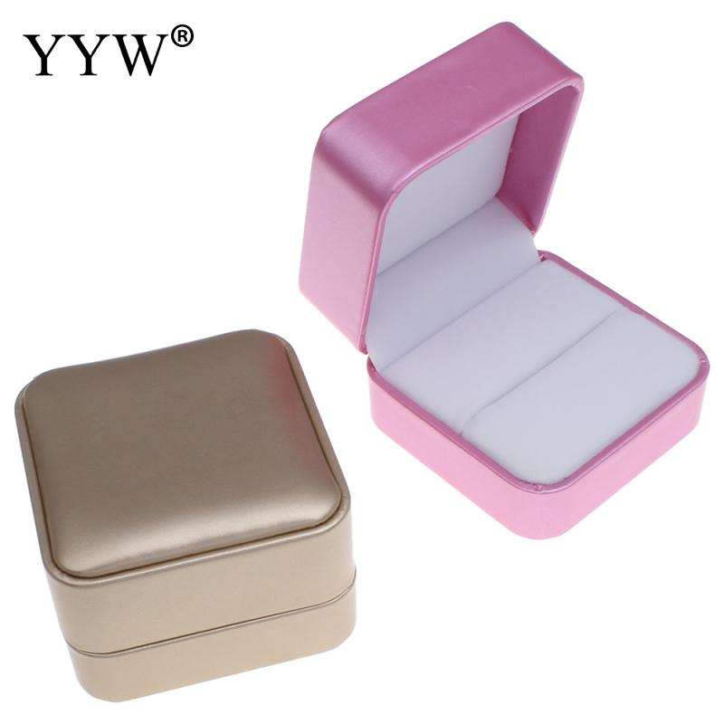 Engagement Ring Box Sale: Hot Sale 2 Color PU Leather Single Ring Gift Box 1PC