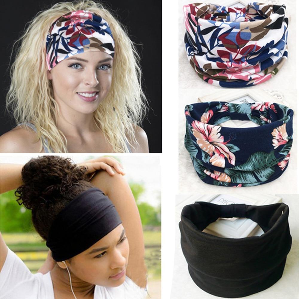 Girls Baby Cotton Bow Hairband Stretch Turban Knot Head Wrap for Kids AB X cg