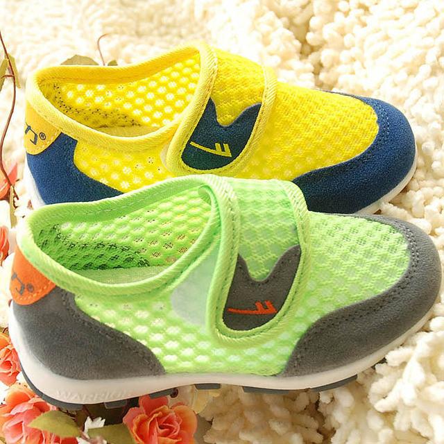 2017 crianças tênis respirável shoes sandálias para meninas e meninos canvas shoes rede sandálias sports shoes
