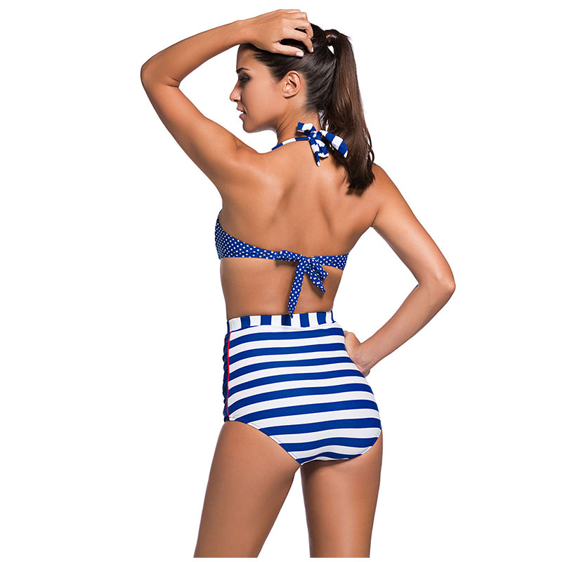 SeaGirl Women Sexy High Waist Retro Push Up Bikini Seti Padded Brazilian Swimwear Swimsuit Bathing Suit Beachwear LC41931