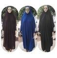 (12 peças/lote) New Style Mulheres Kaftan abaya Muçulmano Maxi Lycra roupas oração Islam HIJAB khimar overhead qk017
