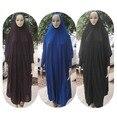 (12 unids/lote) Nuevo Estilo de Las Mujeres Kaftan Musulmán Maxi Lycra generales ropa oración Islam abaya HIJAB khimar qk017
