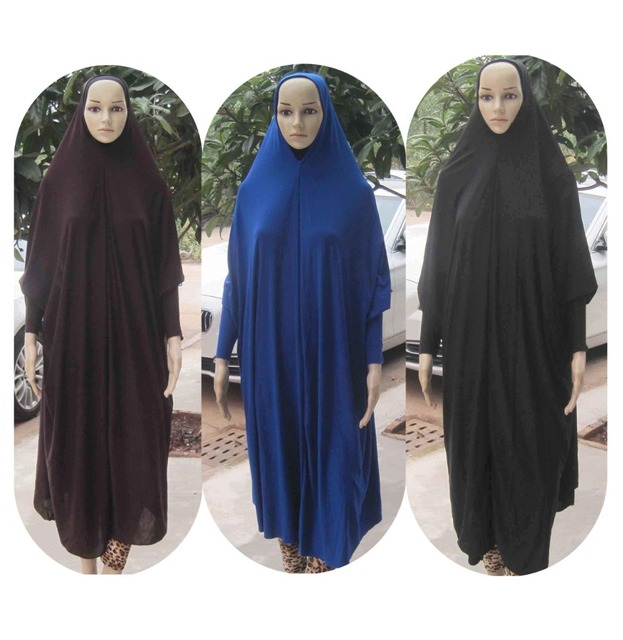 f175adad0722 (12 pieces lot) New Style Women Kaftan Muslim Maxi Lycra overhead khimar  prayer