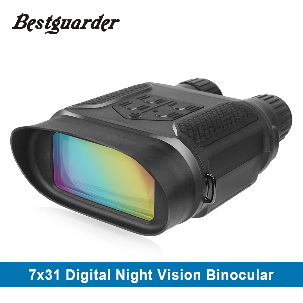 Digital Night Vision Binocular for Hunting 7x31 with 2 inch TFT LCD HD Infrared IR Camera Camcorder 1300ft/400M Viewing Range 2 lcd hd 1080p mms digital infrared