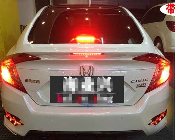 2015 2016 2017 2018 new  spoiler for honda civic by primer or balck white color paint ABS high quality spoiler with LED light2015 2016 2017 2018 new  spoiler for honda civic by primer or balck white color paint ABS high quality spoiler with LED light