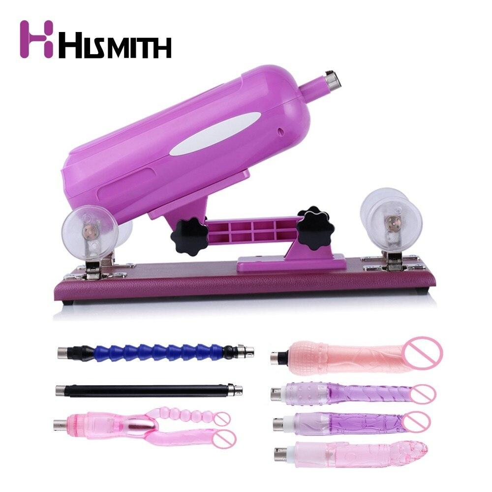 Hismith обновления секс машина для женщин с 7 различных Бесплатная вложения, скорость регулируемый угол фиолетовый цвет ЕС Великобритания США