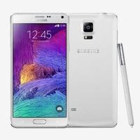Unlocked Samsung Galaxy Note 4 N9100 Android 4.4 5.7 Inch 3 GB RAM 16 GB ROM 4G FDD-LTE 16.0MP factory unlocked Mobiele telefoon