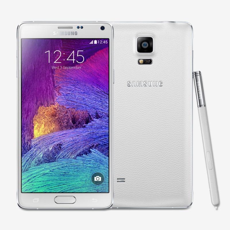 Unlocked Samsung Galaxy Note 4 N9100 Android 4.4 5.7 hüvelykes 3 GB RAM 16 GB-os ROM 4G FDD-LTE 16.0MP gyári feloldott mobiltelefon