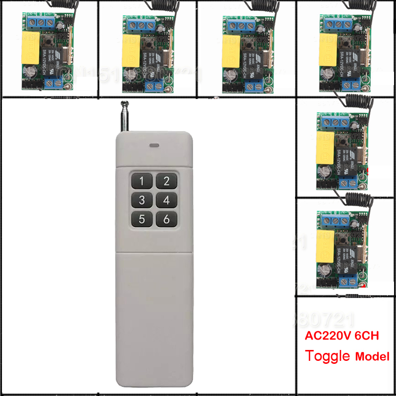 Mini AC220V Wireless Remote Control Switch Long Range Transmitter Receiver 200-3000m Lamp LED Lighting Switch 315 433.92MHZ 2pcs receiver transmitters with 2 dual button remote control wireless remote control switch led light lamp remote on off system
