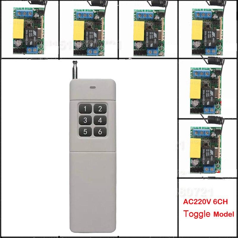 Mini AC220V sans fil télécommande commutateur longue portée émetteur récepteur 200-3000 m lampe LED interrupteur d'éclairage 315 433.92 MHZ