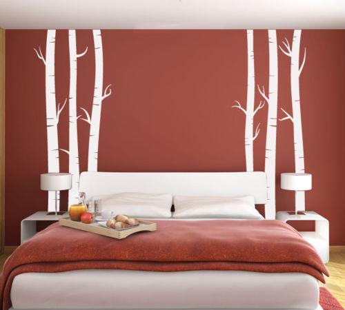 Art Mural grandes Branches d'arbre une couleur MIR vinyle décor Stickers muraux Mural bébé Stickers muraux pépinière mur tatouage D812