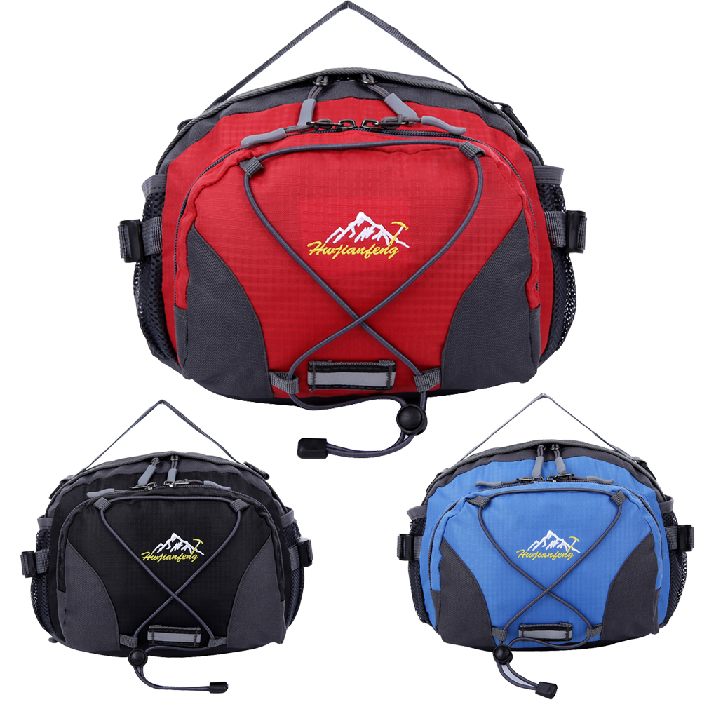 New Unisex Outdoor Running Bags Waterproof Fabric Multifunctional Waist Bags for Cycling Climbing Travel Sports Waist Pack