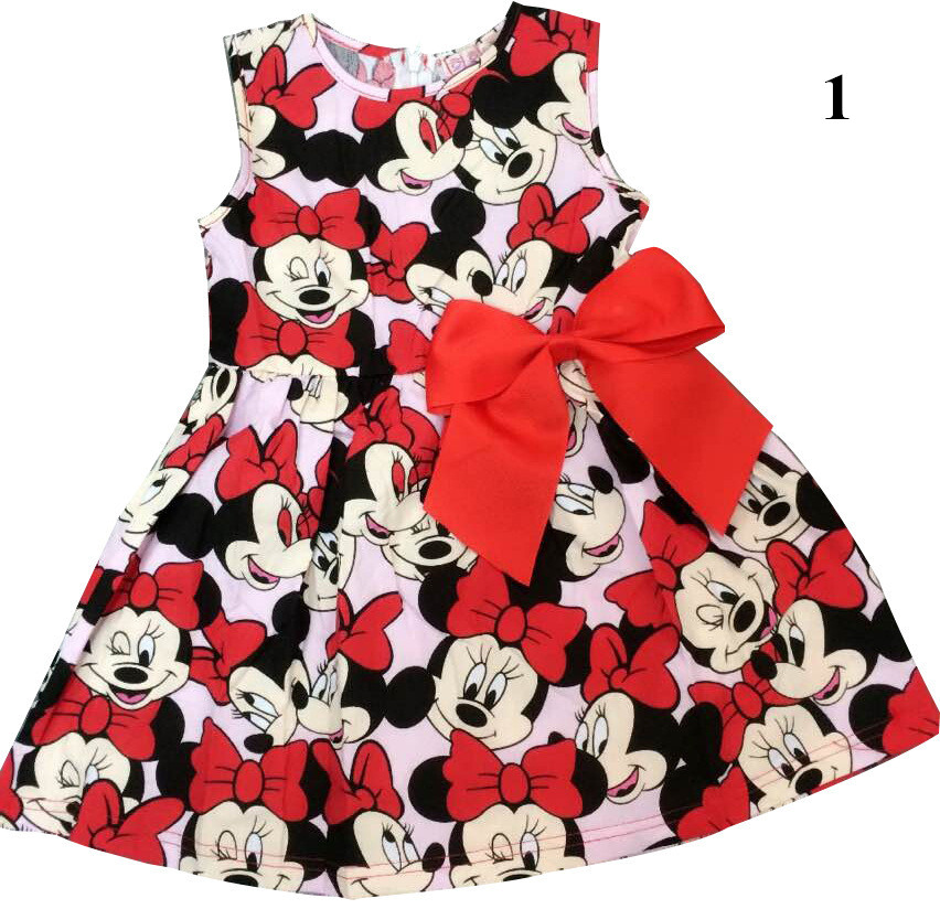 2015-New-High-Quality-Short-Sleeve-Children-Dress-Cartoon-Mouse-Cotton-Kids-Dresses-For-Girls-For-Christmas-New-Year-Clothes-2