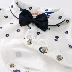 Image 4 - Baby Boy Clothing Set Summer Toddler Clothes Gentleman Bowtie Bodysuit+Straps Braces Shorts Infant Wedding wedding Outfit Suit
