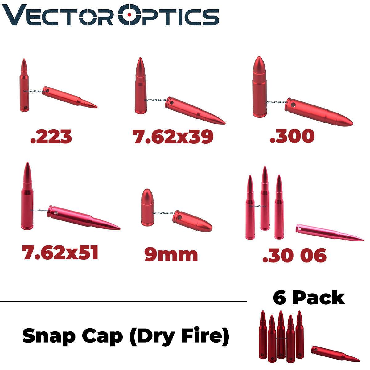 וקטור אופטיקה 6 חבילה הצמד כובעי יבש אש רובה אקדח בקליבר בטיחות בהתעמלות עגול 7.62x39mm. 223 רמינגטון. 300. 30 06. 308 9mm