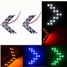 2Pcs 14SMD Yellow Arrow Indicator Car Rearview Side Mirror LED Turn Signal Light Fit For 118i 320i 750i M3 M4 ect 2pcs 14smd yellow red blue green white led arrow panels car side mirror turn signal indicator light for dodge journey