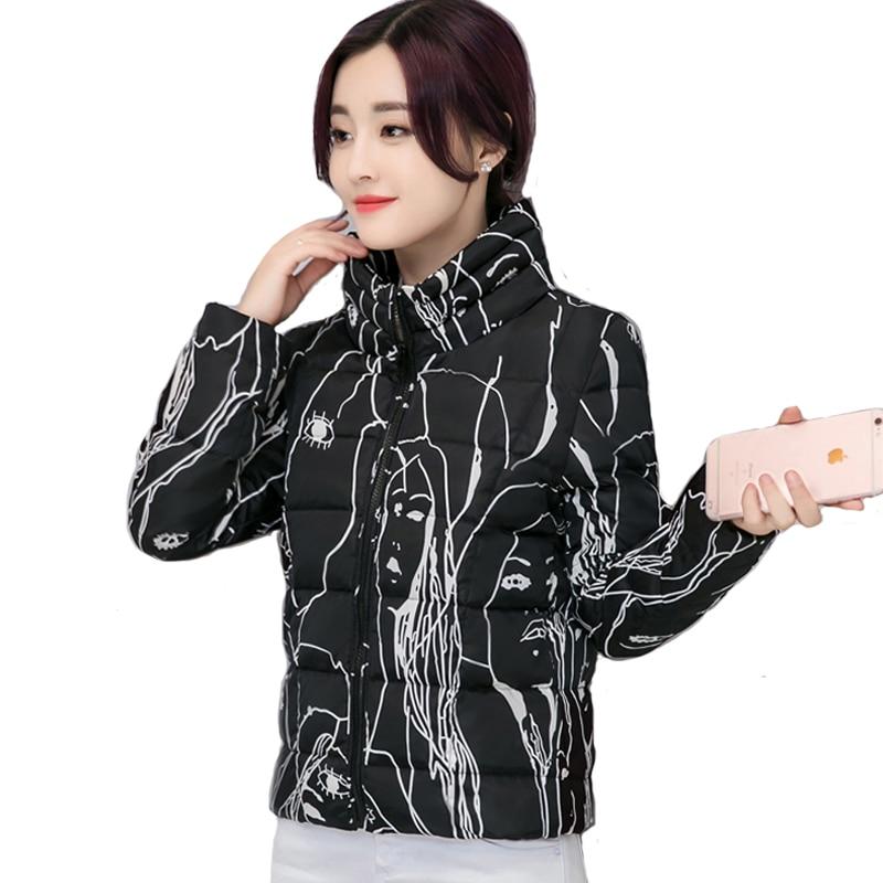 Spring Autumn Women Bomber Basic Jacket 2019 Fashion Slim Cartoon Graffiti Outwear Stand Collar Pocket Zipper Jaqueta feminina