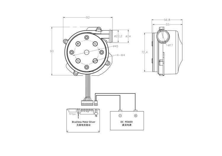 Купить 12 В 800LPM 22000 об./мин. 3-фазный Бесщеточный Мощный Вентилятор/Мини BLDC Центробежные Электрический Воздуходувка с 7kPa Давления дешево