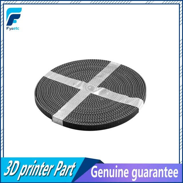 5 м/лот Gt2-6мм открытым ремень грм ширина 6 мм GT2 пояса Rubbr Стеклопластик разрезанная по длине для 3D принтеров оптовой 3d принтер