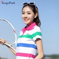 2017 France New Summer Collectionluxury Brand Eden Serge Park Lady Womens Polo Shirt Summer Stripe Design