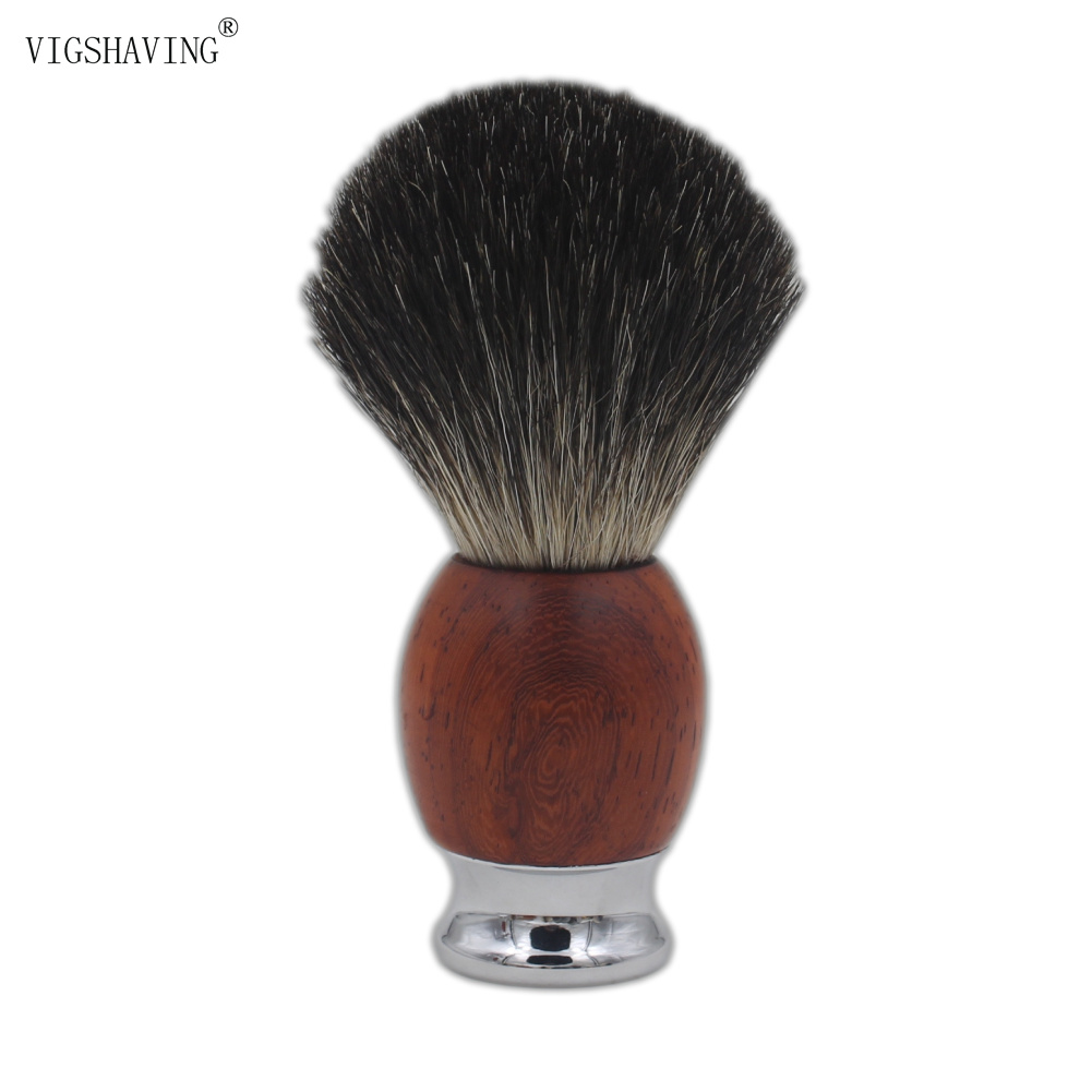 Metal handle and Wood Black Pure Badger Hair Men Shave Brush