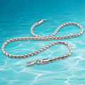 925 hueso de serpiente de plata collar para hombre, 5 MM crudo punk collar de cadena de joyería