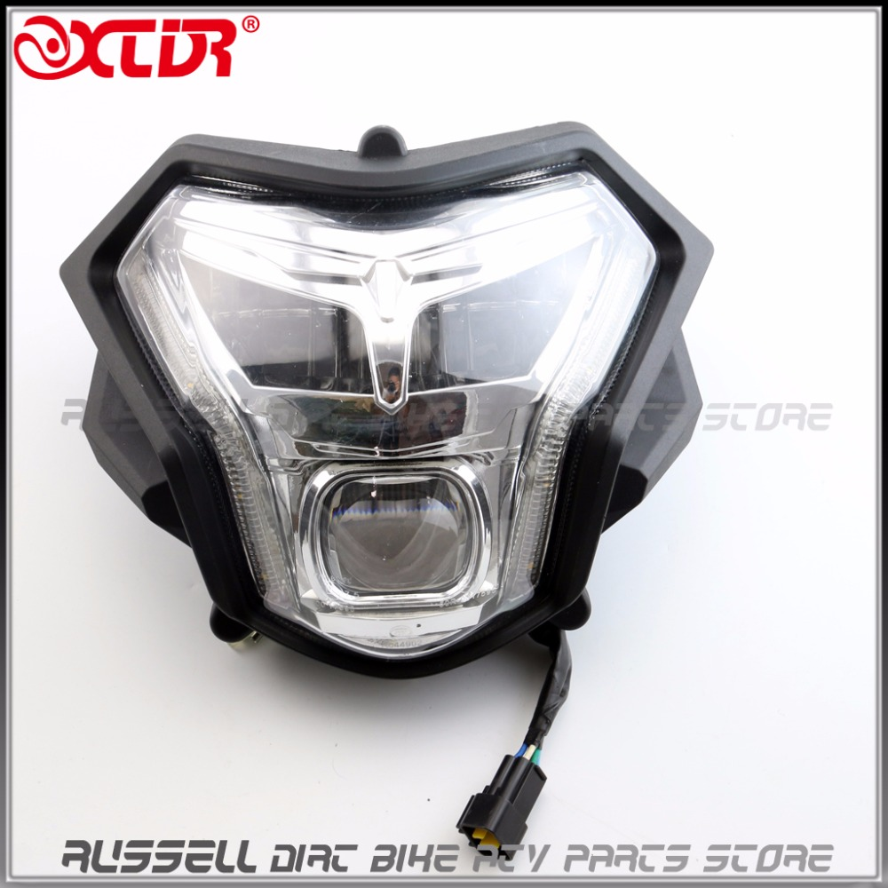 LED Headlight Lens Headlamp Signal For ZONGSHEN RX3 light ZS250GY-3 Motorcycle 250cc Dirt pit bike Accessories Parts блог технологии и мотоцикл zongshen мотоцикл rx3 оригинальной воды разделения zs250gy 3 масляный сепаратор