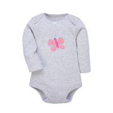 Baby Bodysuits For Baby Girls Cotton Clothes 3/4PC Long Sleeves Warm Clothing Autumn winter clothes new born 6-24M Babies Ropa