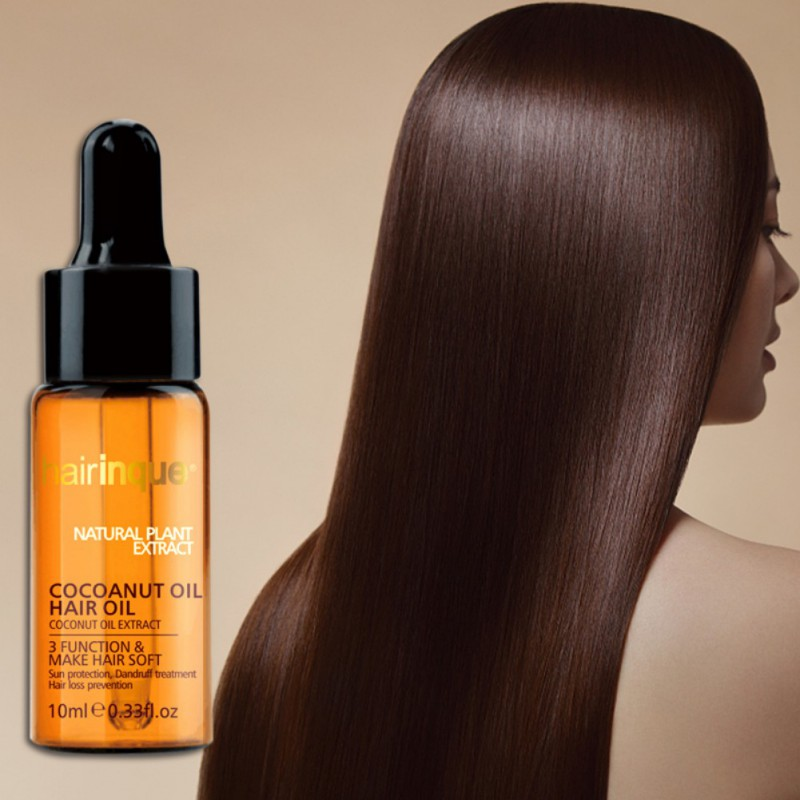 10ml Coconut Essential Oils Moisturizing Nourishing Oil Hair Repair for Repair Damaged Hair Conditioners image