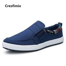 Cresfimix chaussures pour hommes men comfortable cloth plus size slip on shoes man blue street stylish shoes casual shoes b2354