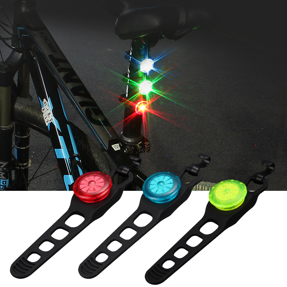 Mini Bike Bicycle Light LED Taillight Rear Tail Safety Warning Cycling Light Waterproof Multicolor Bicycle Flashlight Cool