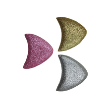 1000pcs/lot Leather Material Glitter Cat Ears DIY Hair Accessory Girls Hairclips Women Hairbands For Party Decoration Headwear