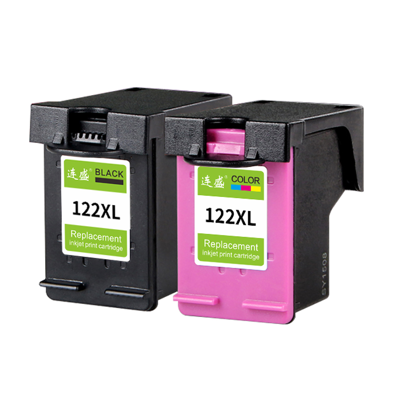 2pack 122XL Refilled Ink Cartridge Replacement For HP 122 XL for HP Deskjet 3000 3052A 3054 3540 D1000 Envy 5530 4632 Printers 1pk replaces ink cartridge for hp22 c9352a c9352an c9352an 140 suit for deskjet d2320 d2330 d2345 d2360 d2368 d2400 printers