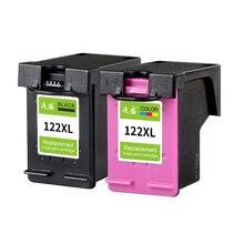 2 шт 122XL пополнен картридж Замена для hp 122 XL для hp Deskjet 3000 3052A 3054 3540 D1000 зависть 5530 4632 принтеры