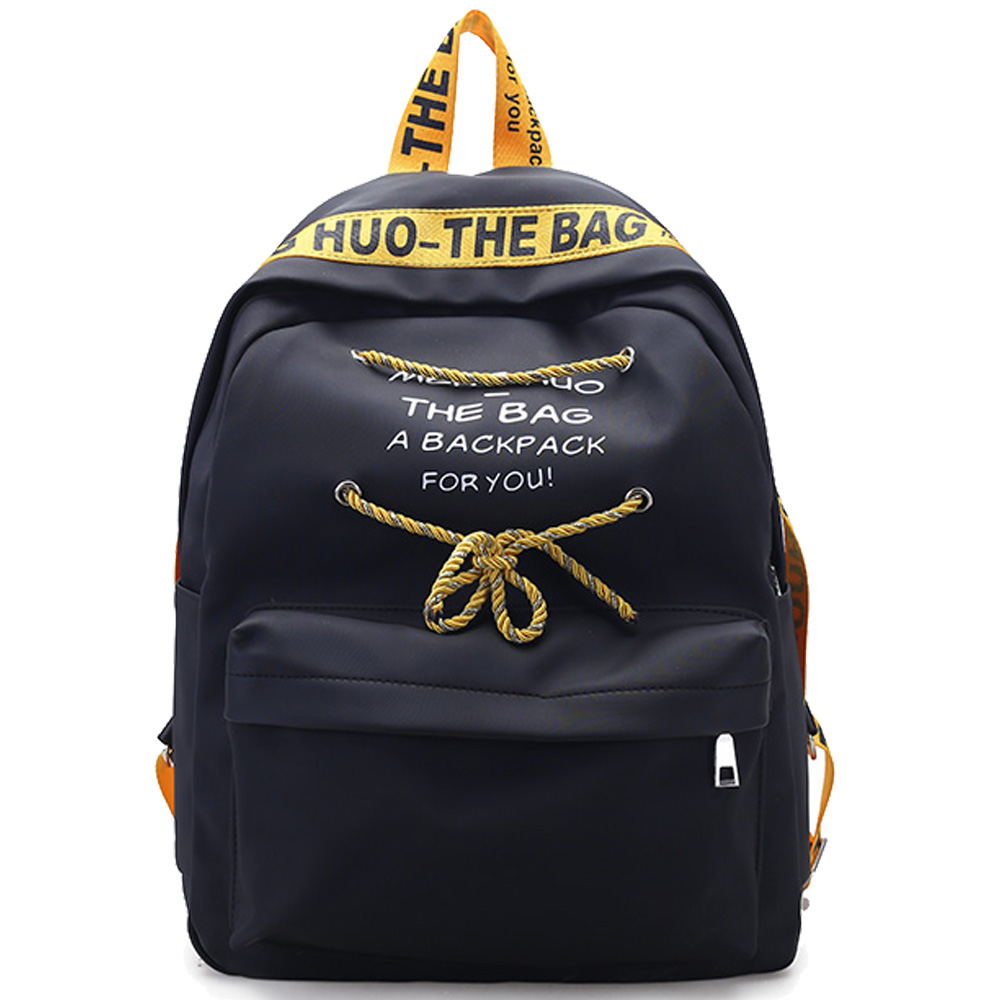 Fashion Simple Letter Backpack High Quality Rope School Laptop Backpack Female Travel Bagpack Casual 1