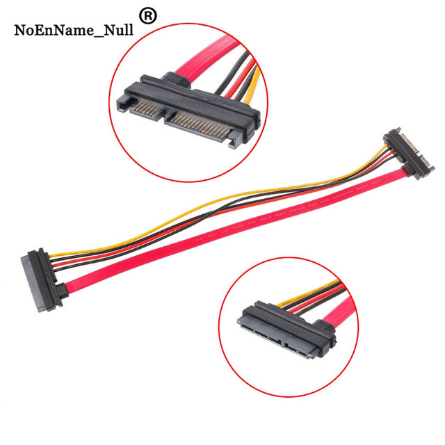 Male To Female Adapter Cable 30cm 22Pin15 7 SATA