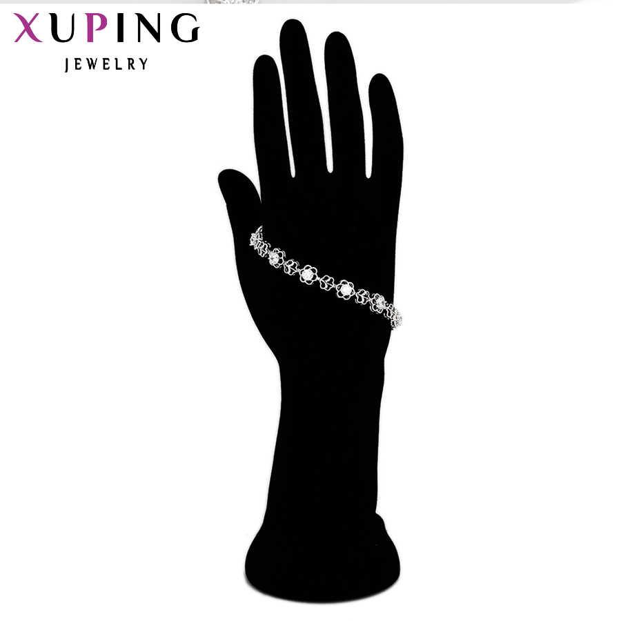 Xuping Bracelet de luxe européen américain exquis couleur argent plaqué haute qualité meilleur prix usine 72381
