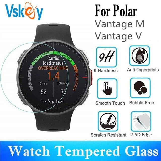 VSKEY 100 sztuk szkło hartowane dla polarny Vantage M ochraniacz ekranu odporny na zarysowania folia ochronna dla polarny Vantage V
