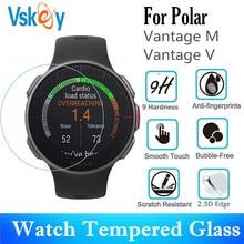 VSKEY cristal templado para Polar Vantage M, Protector de pantalla resistente a los arañazos, película protectora para Polar Vantage V, 100 Uds.