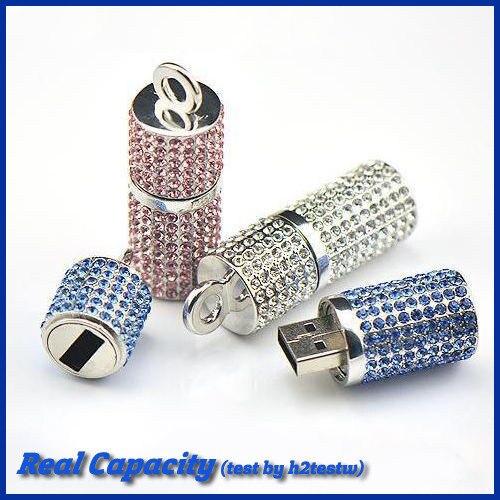 free shipping usb 32gb memory pen drive wedding usb flash drive crystal column cylinder usb stick jewelry 4gb 8gb 16gb 32gb