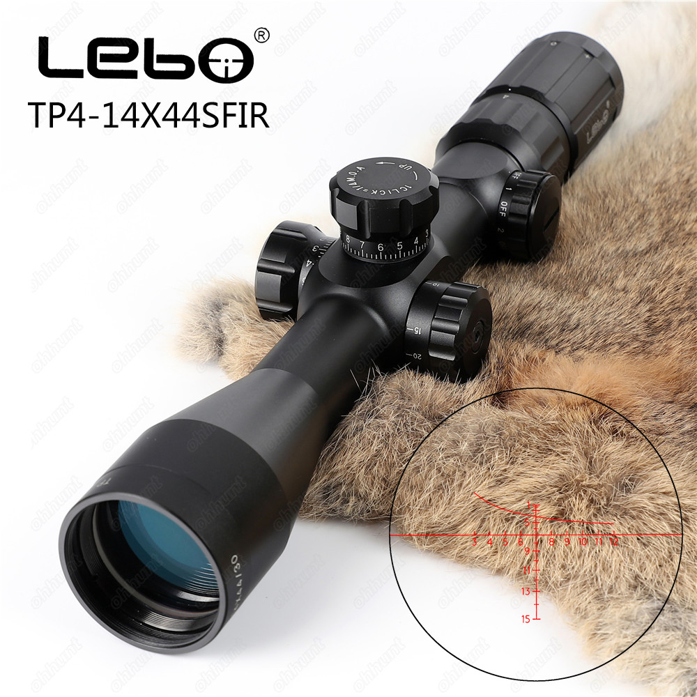 LEBO TP 4-14X44SFIR Tactical Optical Sights 1st Focal plane Side Parallax Adjustment Red Illumination Hunting Riflescope marcool 4 16x44 side focus front focal plane optical sights rifle scope hunting riflescopes for tactical gun scopes for adults
