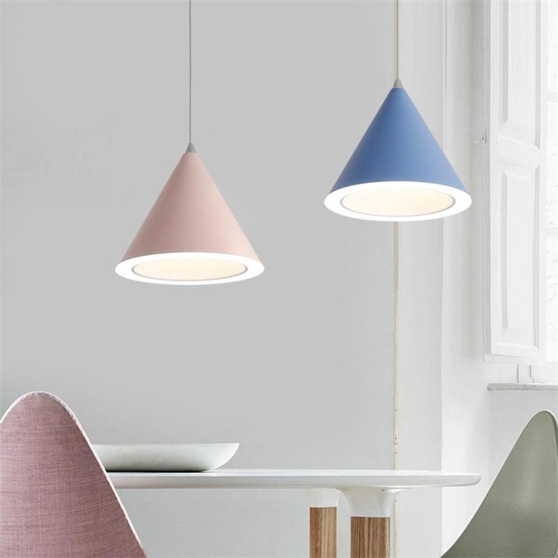 Nordic Pendant Lights Acrylic LED pendant lamp Modern Macaron Hanglamp For Living Room Lustres Kitchen Fixtures
