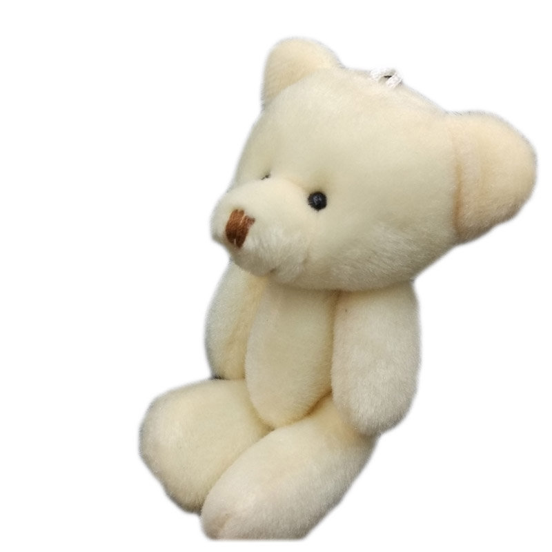 12cm x 12pcs cartoon cute joint flat plush teddy bear urso de