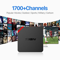 S905X Amlogic Quad Core Android 6.0 Smart TV CAIXA Inteligente Android Media Player Set Top Box + 1700 Canais de IPTV Livre Europa árabe