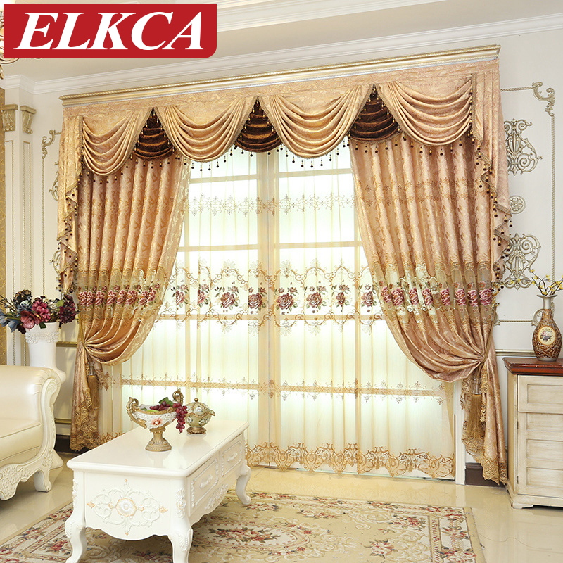 european royal luxury curtains for living room luxury embroidered curtains for the bedroom chinese window curtains for kitchen