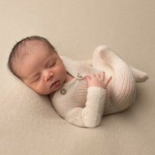 Newborn Photography Props Accessories Infant Knitting Sweater White Jumpsuits Baby Photo Costume Fotografia