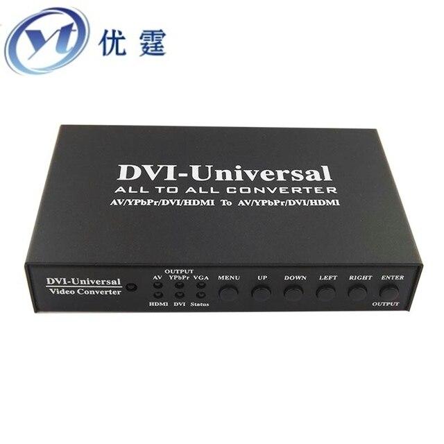 AV/YPbPr/VGA/DVI/HDMI to All Converter  Support for multiple transformation function, transform each other