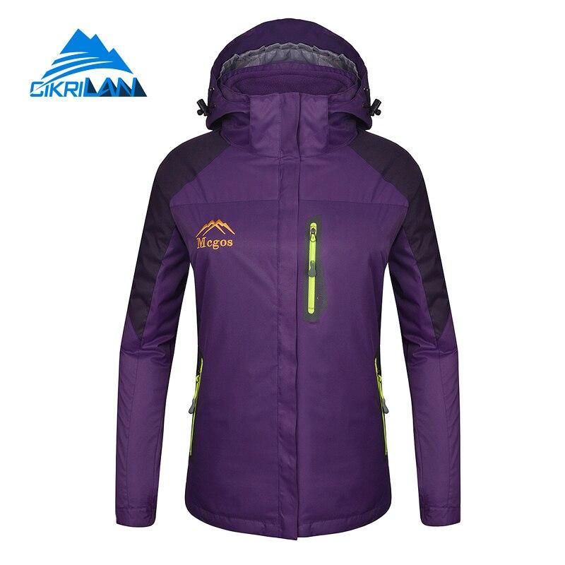 ФОТО Hot Sale Windstopper Camping Warm With Detachable Fleece Liner Chaquetas Mujer Outdoor Hiking Winter 3 In 1 Jacket Women Coat